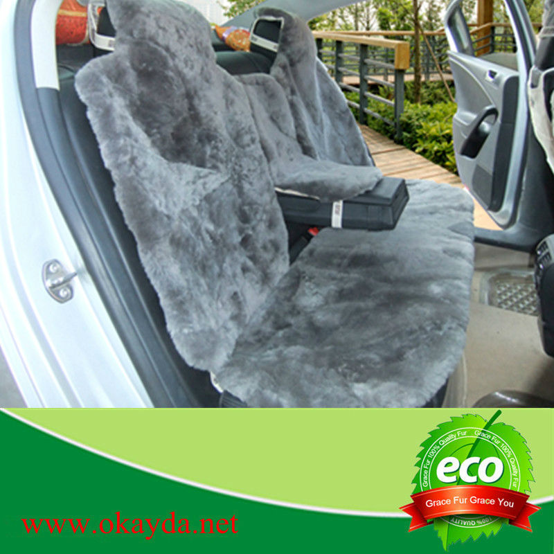 Genuine sheepskin seat covers for car
