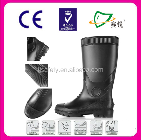 High quality cheapest men working boots comfortable pvc boots
