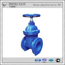 Ductile iron casting non rising stem din gate valve pn16 made in china