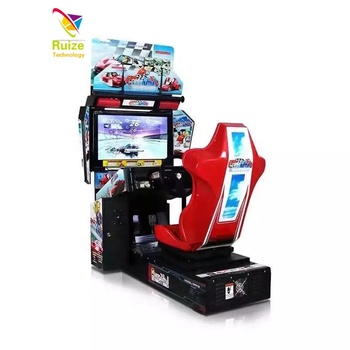 SEGA Hd children indoor ride on car race game electrical 3D car racing simulator arcade game