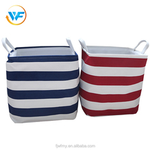 OEM Eco-friendly Beatyful Pattern Hamper Foldable Fold Laundry Basket with Handles