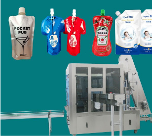 fruit juice pouch filling capping and packaging machine
