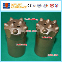 Long service life tungsten carbide button drill bit for hard rock