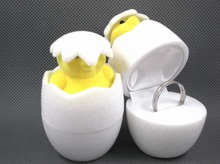 creative christmas lovely egg shaped ring box
