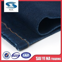 Woven textured cotton spandex polyester women denim fabric