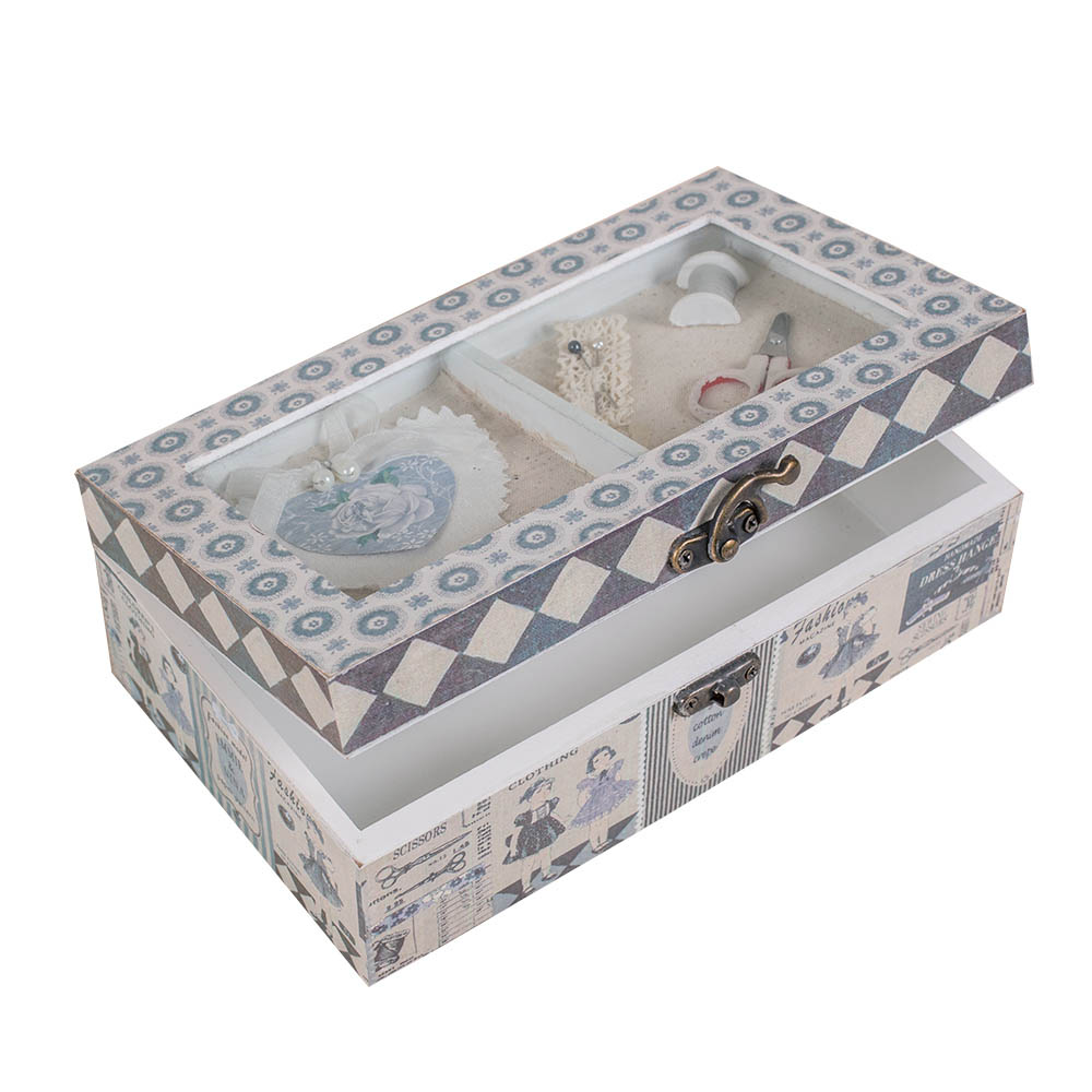 China supplier best quality handmade wood sewing storage box for decor home handicraft