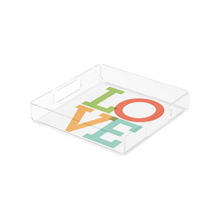 Wholesale Custom Printed Plexiglass Plastic Food Serving Tray