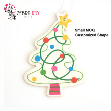 Factory wholesale customized shape little tree promotional hanging paper air car freshener