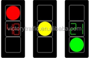 traffic light with countdown timer