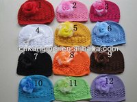 2013 Hot Sell Cheap Top Kufi Hats With Tulle Flower
