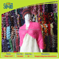 hot sale soft 100 polyester magic scarf