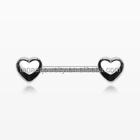 Fashion new design heart shape nipple ring cheap beautiful nipple rings