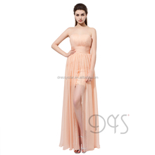 Stunning Strapless Ruched Chiffon Short Front Long Back Evening Prom Dress