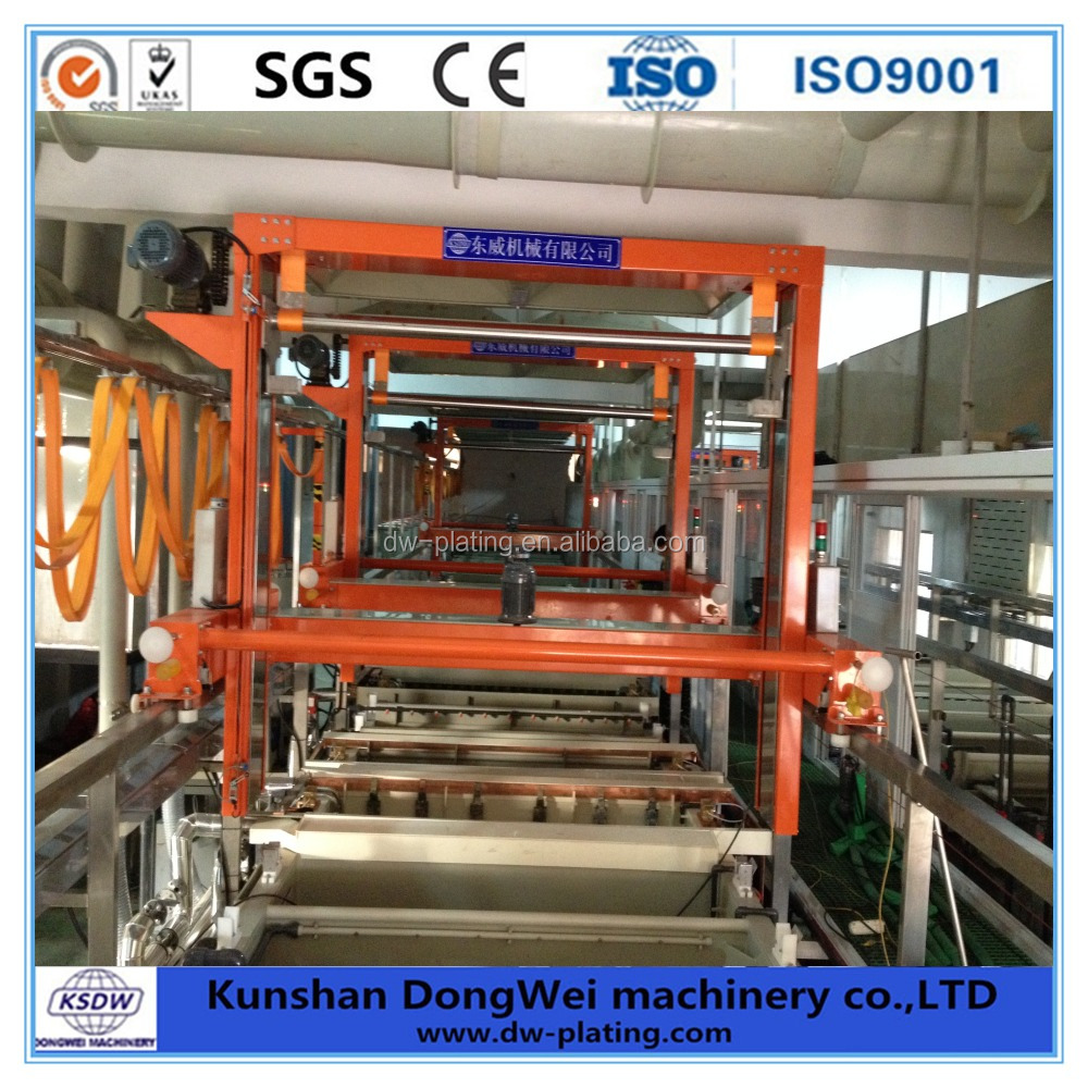 Automatic surface treatment nickel chrome coating equipment