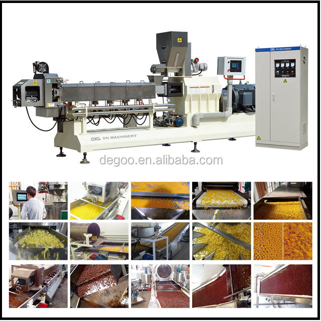 300-350kg/h Breakfast Cereals Corn Flakes Roller Pressing Laminating Machine Manufacturer