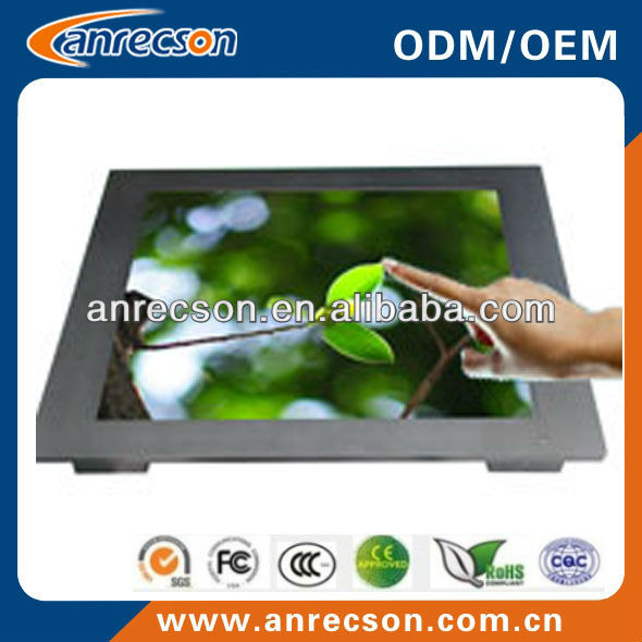 "flat-panel 17"" industrial lcd monitor with touch screen"