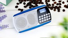 Portable Mini FM stereo radio with imported ABS material SD-S218