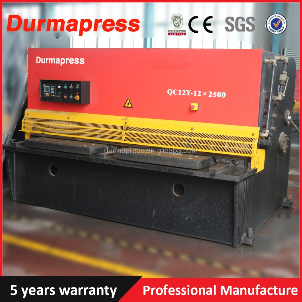 Top quality and reasonable price QC12Y 4mm thickness 2500mm width CNC Hydraulic shearing machine for sheet stainless <strong>cutting</strong>