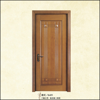 China supplier morden wood door design interior solid wood door