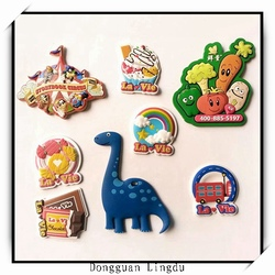 2016 hot selling funny cartoon character rubber pvc fridge magnet