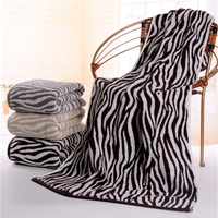 tiger stripe cotton bath towel