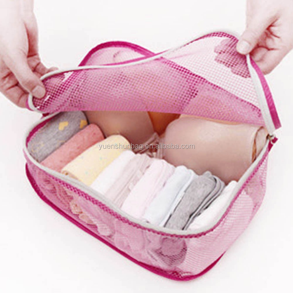 polyester Portable Cosmetic Bags Travel Style Storage Underwear Cases Bra Organizer New