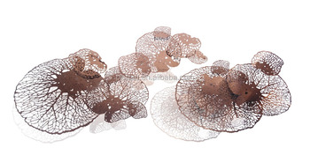 stainless steel electroplated new wall art rose gold plated finished wall sculptures