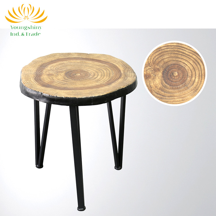 Cheap small round modern wood coffee table