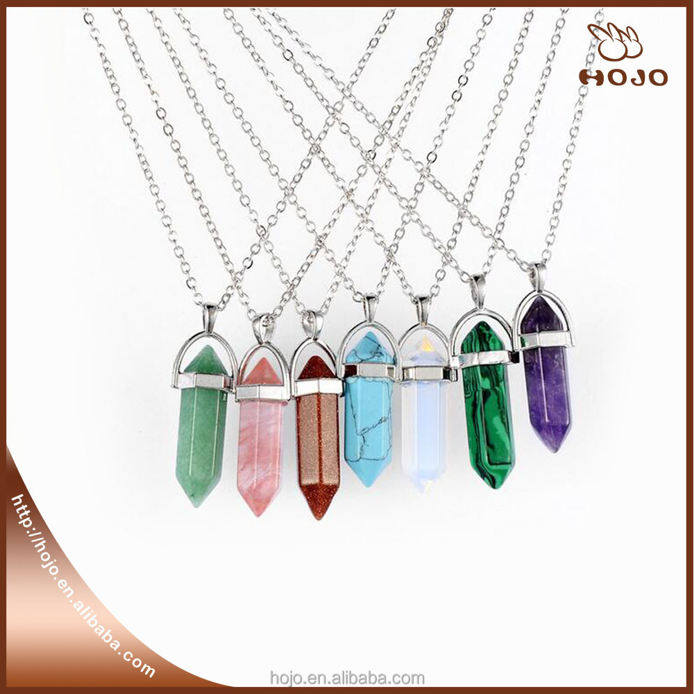 Fashion Multi color quartz necklaces Pendant Necklace chain crystal necklace women Quartz Stone jewelry accessories