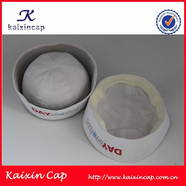 OEM custom high quality blank white sailor hats/cap