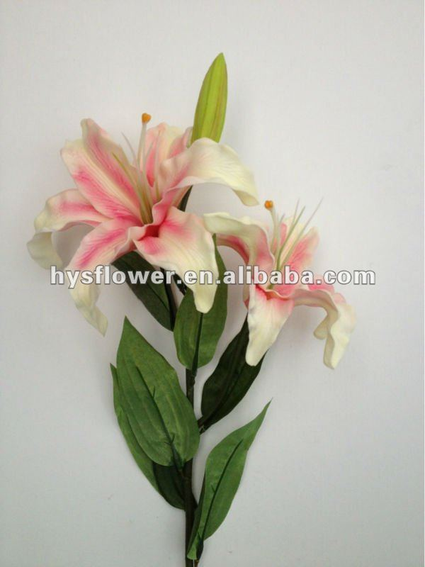 Soft touch artificial lily