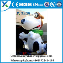 2017 Factory direct outdoor inflatable dog decoration for promotion