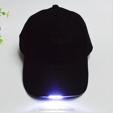 Fashion 6 panel led baseball hat with battery