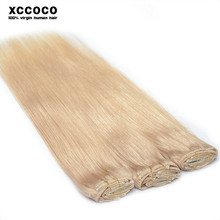 20% Discount Free Sample Free Delivery Cheap 100% Human Hair Clip In Hair Extension, Grey Color Clip In Hair Extension