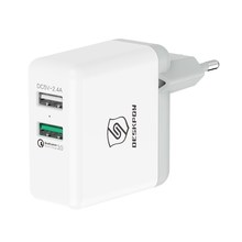 Qualcomm Quick Charge QC3.0+5V2.4A 2 Port Dual USB Multi Portable Mobile Phone Battery AC EU Plug Wall Charger