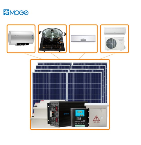 Moge off grid 5000w standard configuration instruments of solar system for agriculture