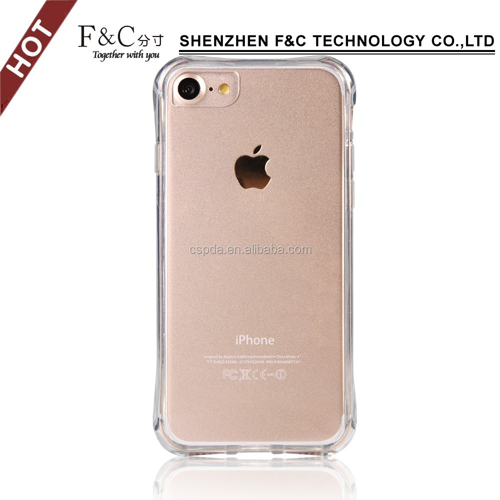 practical Ultra slim dust-proof PC+TPU back cover for iphone 7