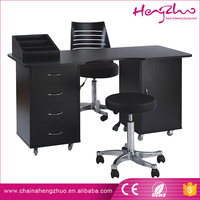High Class Multifuction black valnut wooden manicure table salon nail desk for wholesale