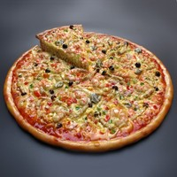 sample of advertisement product larger fake pizza food model