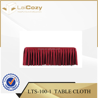 Hotel wedding table cloth/banqueting table skirting/hotel banquet table cloth