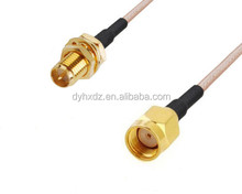 RP SMA male to RP SMA Female Antenna Connector Pigtail Jumper Cable 15CM