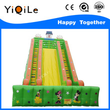 Perfessional design PVC large inflatable float with slide