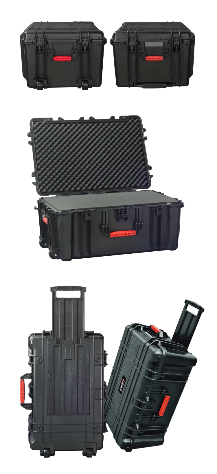 Plastic sealed equipment case