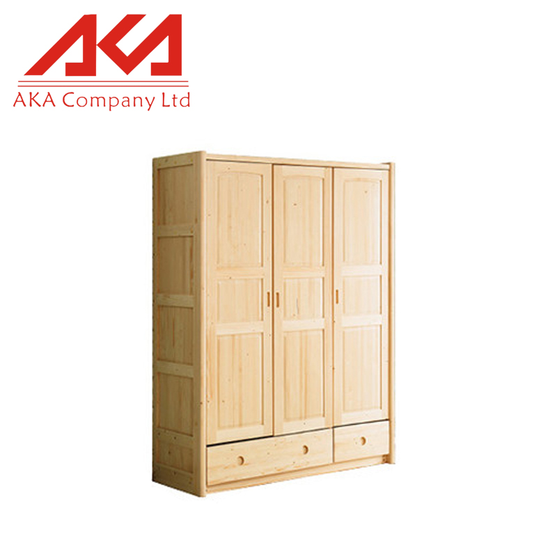 Nordic fashion wooden modern bedroom wall wardrobe cabinet