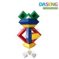 ABS plastic pyramid blocks construction diamond toy for kids