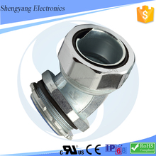 Beautiful Shape Metal 45 Degree Elbow G(PF) Connectors for pipe/tube/hose of electrical cable