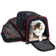 Expandable airline approved soft-sided pet animal sling carrier bag for cats