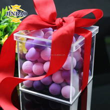 JINBAO Homemade Clear Acrylic Decorative Chocolates Christmas Gift Boxes