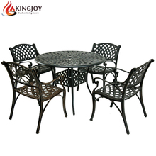 USA hot selling cast aluminum 4 seater Outdoor Dining Set patio furniture