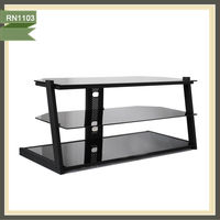plasma glass tv stands led glass tv stand living room furniture lcd tv wall units RN1103